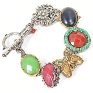 Lucky Brand 8in Two-tone Multicolor Bracelet